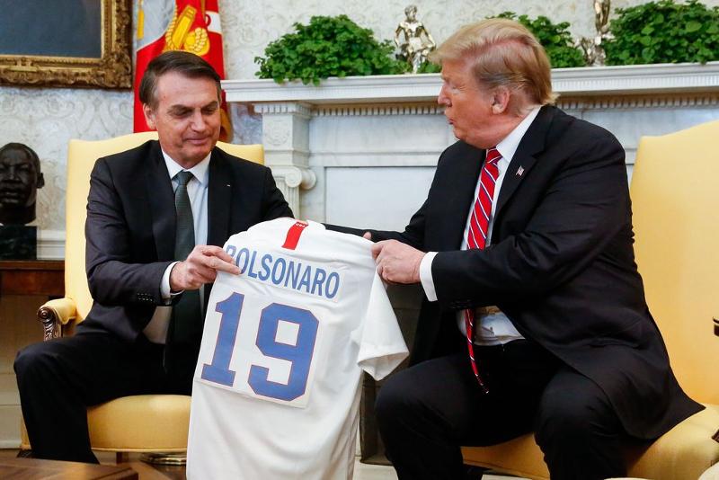 Foto: Isac Nobre/PR jair bolsonaro e donald trump na casa branca